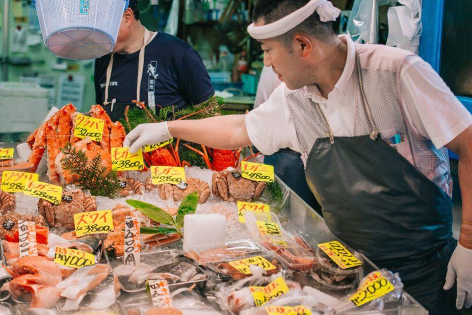 Tsukiji market, tokyo fish