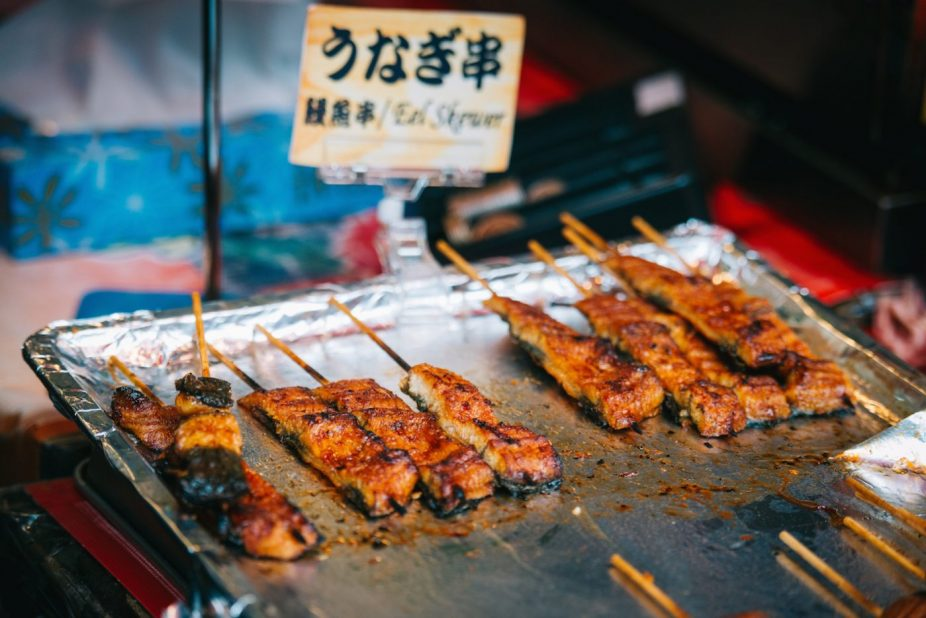 Tsukiji market, food
