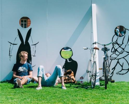 I amsterdam sign, picnic