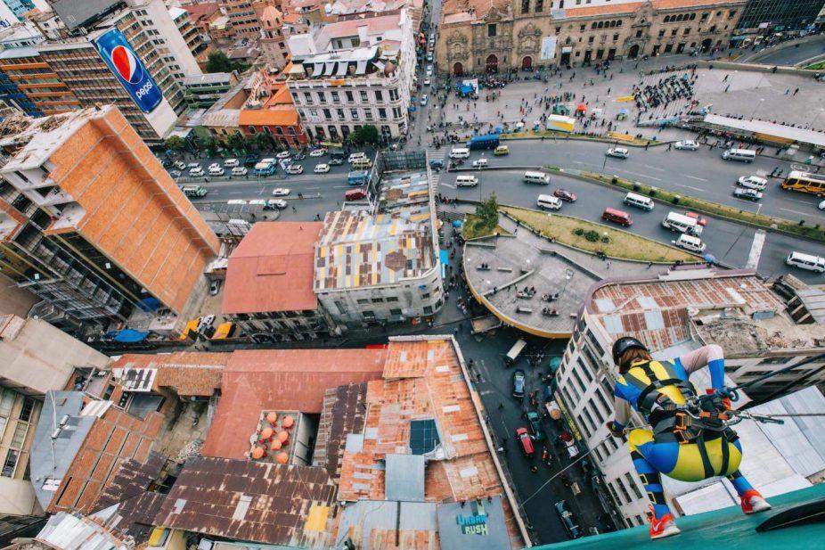 Urban Rush rappeling Bolivia