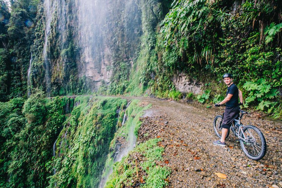 death road waterfall