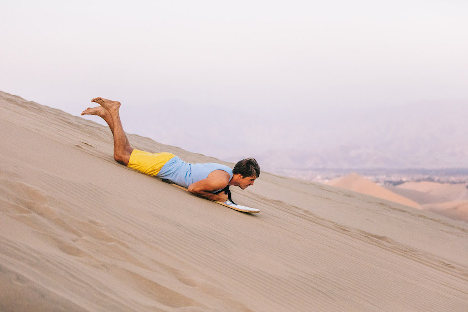 sand boarding in Ica
