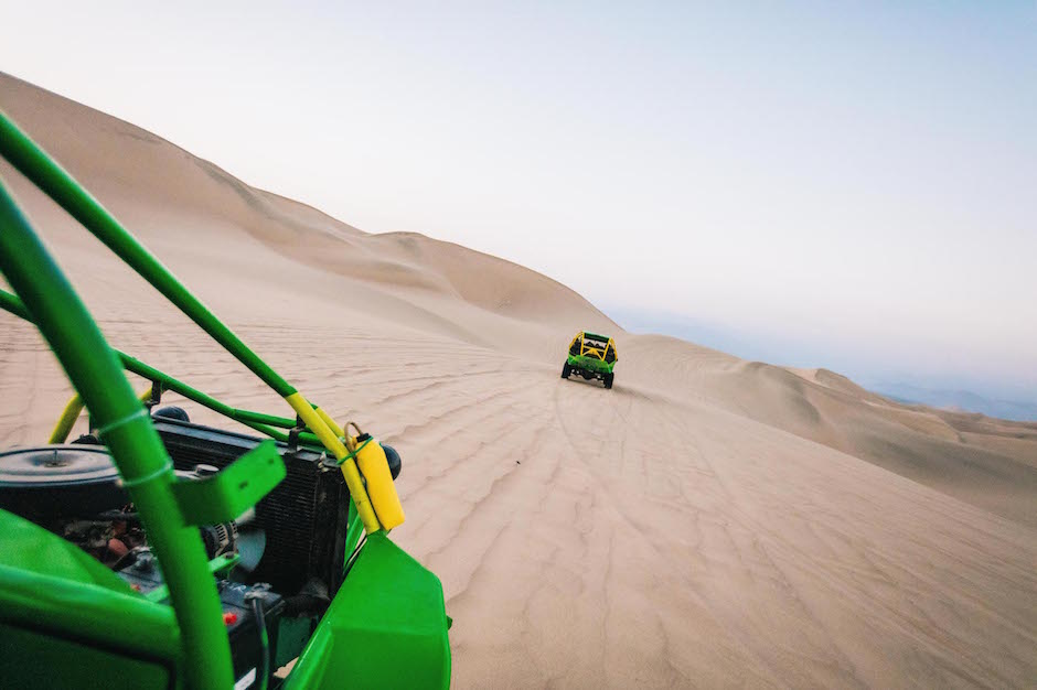 dune baggy driving in Peru