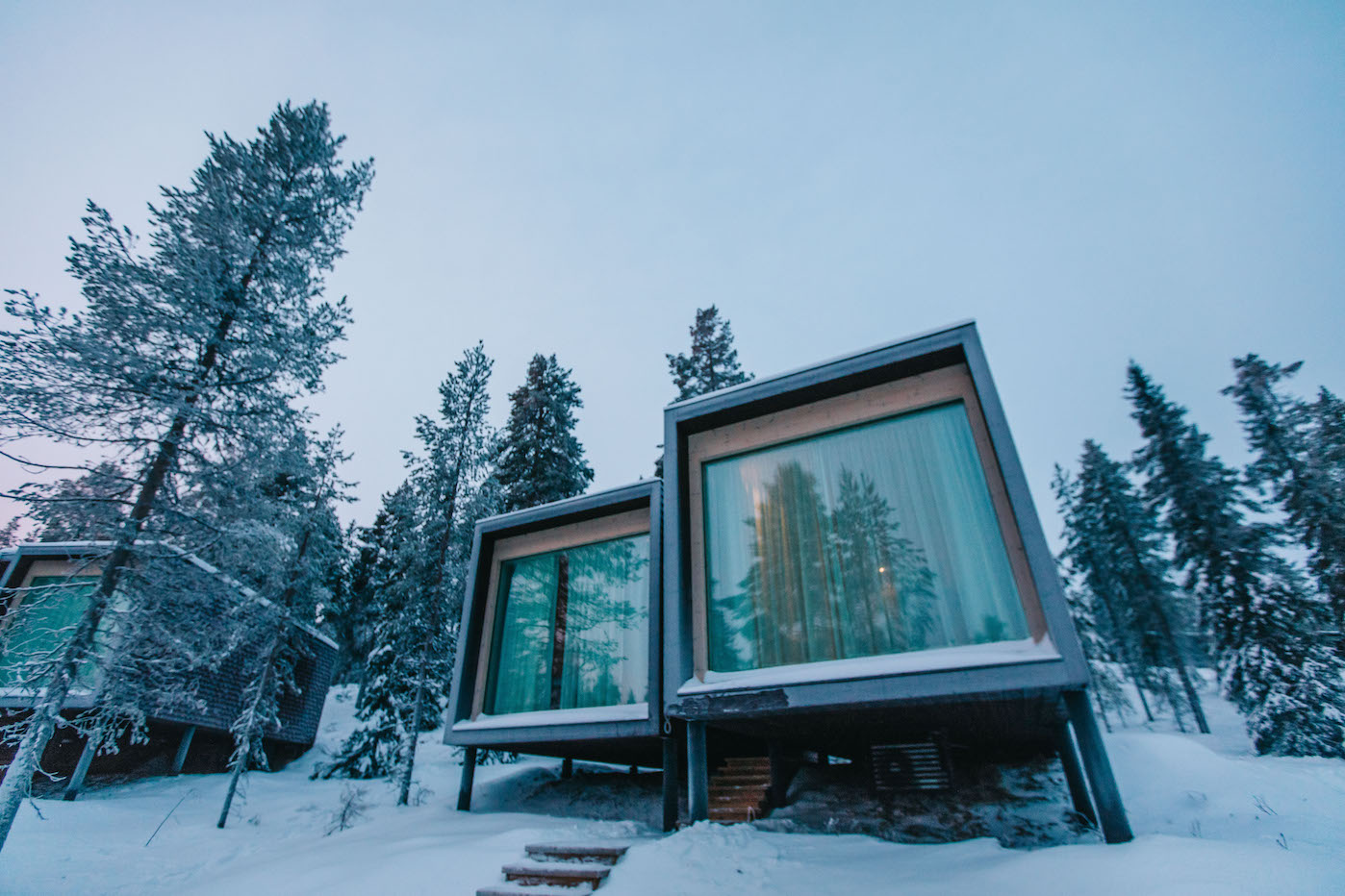 arctic treehouse, finland, arctic treehouse hotel, lapland, santa village, northern lights