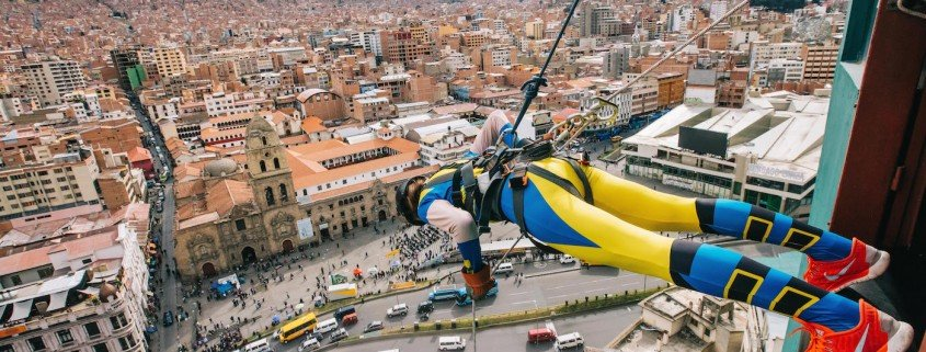Rappeling with Urban Rush in La Paz
